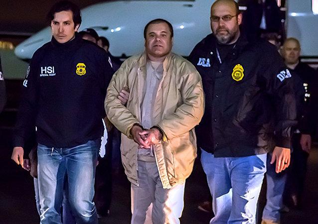 Joaquín Chapo Guzmán Loera tras su extradición a Estados Unidos (archivo)