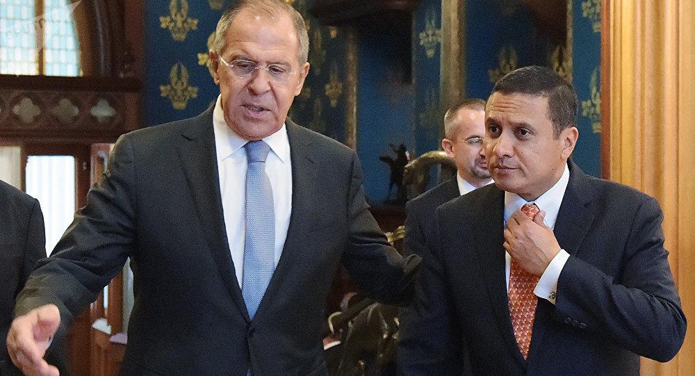 Los ministros de Exteriores de Rusia y de Guatemala, Serguéi Lavrov y Carlos Morales.
