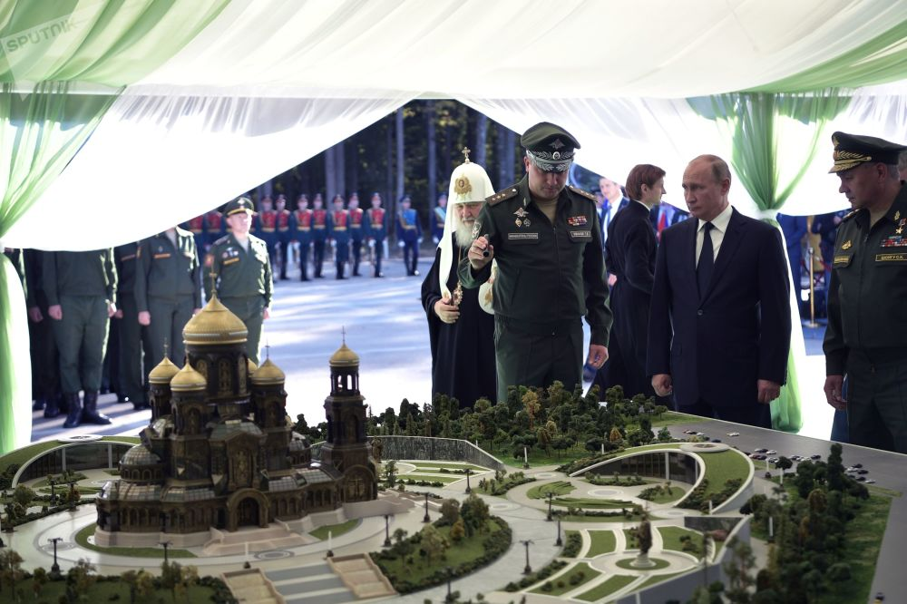 Ceremonia de colocación de la primera piedra de la iglesia principal de las Fuerzas Armadas de Rusia