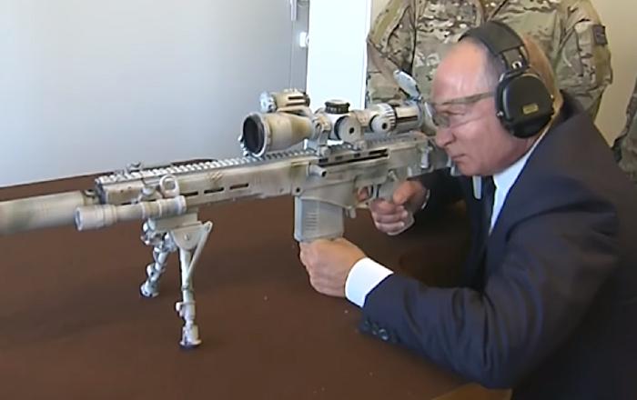 La puntería de Putin con el nuevo rifle de francotirador Kalashnikov sorprende a todos