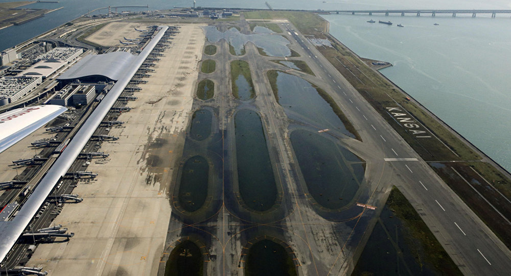 Aeropuerto de Kansai tras el tifón Jebi