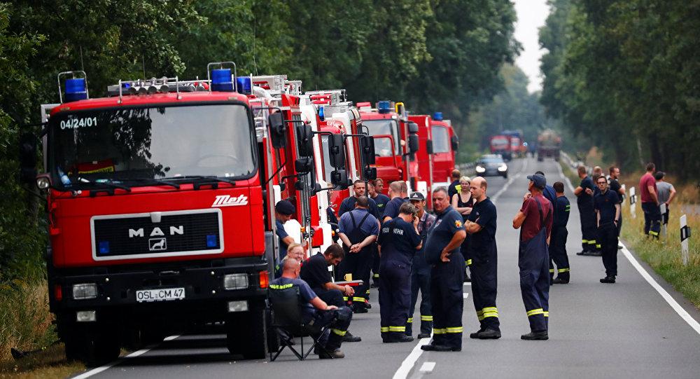 Los bomberos alemanes (archivo)