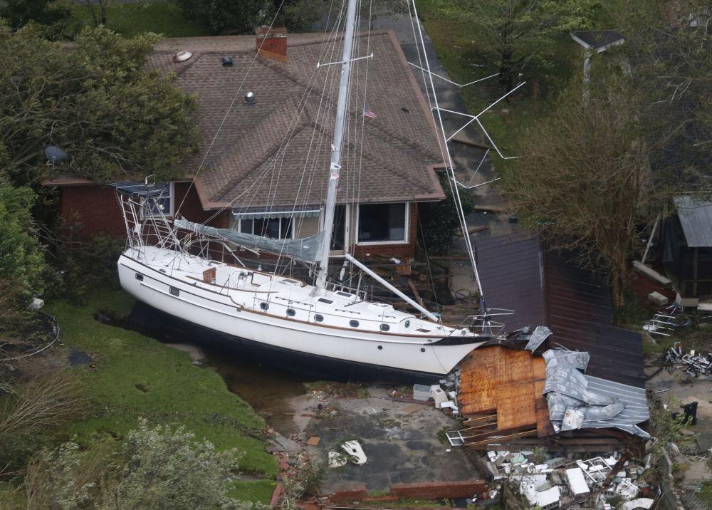 Las secuelas de la tormenta tropical Florence en EEUU.