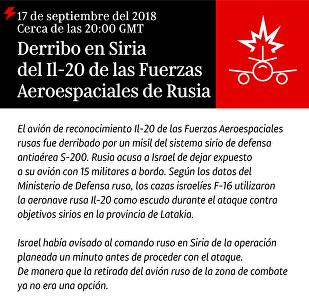 El derribo del Il-20 ruso en Siria, al detalle