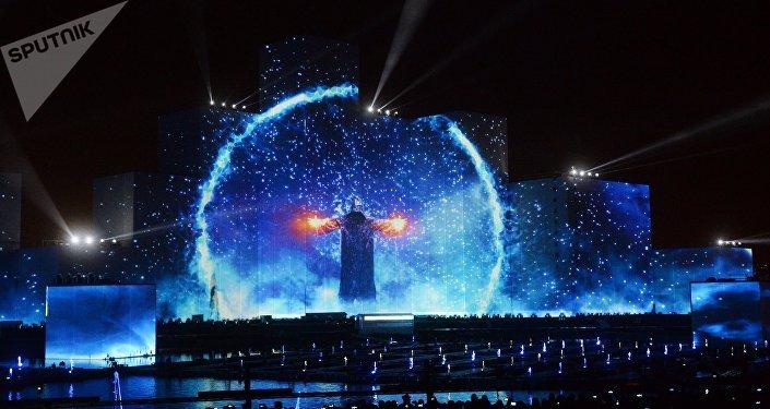 Ceremonia de apertura de Festival Internacional Círculo de Luz de Moscú (archivo)