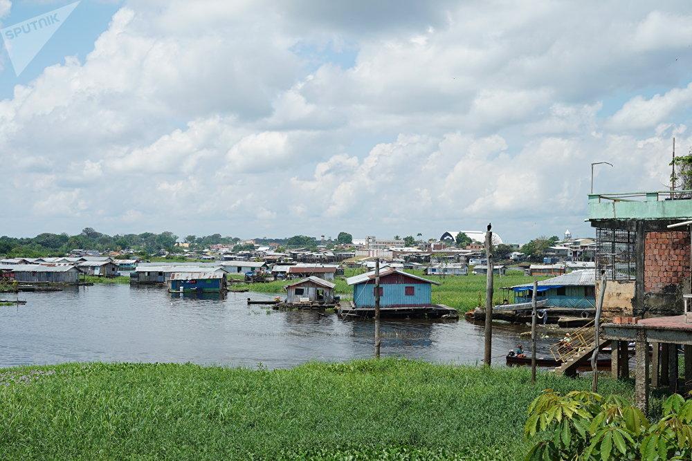 La ciudad de Coari, conocida como la Capital de los Piratas