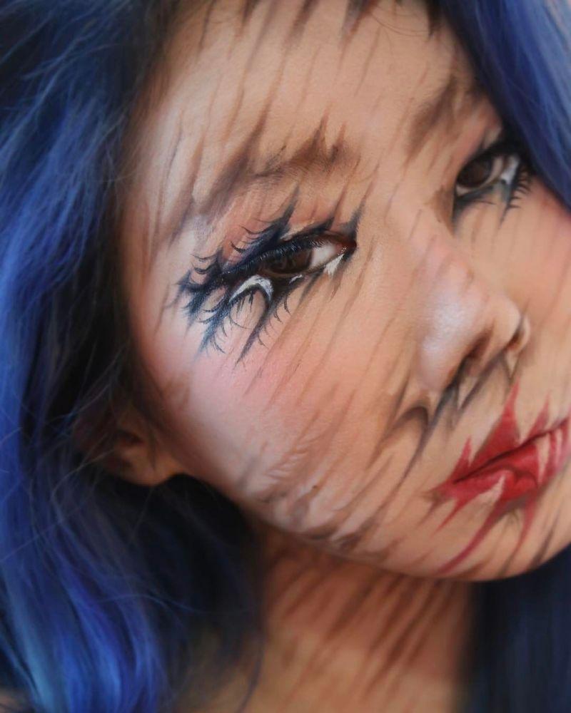 Esta artista surcoreana convierte su cuerpo en una ilusión óptica