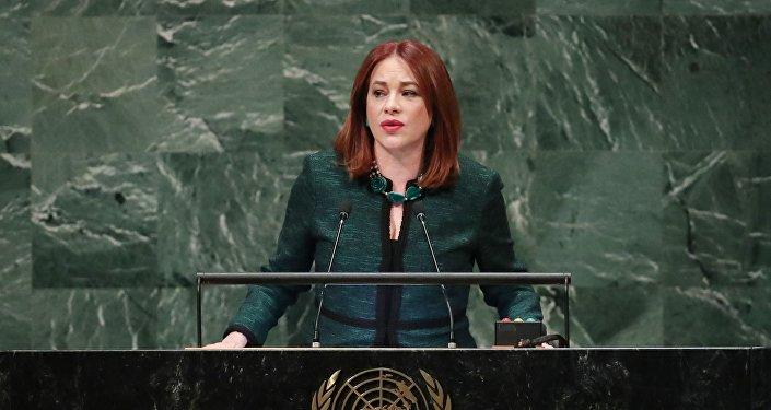 María Fernanda Espinosa, presidenta de la Asamblea General de la Organización de las Naciones Unidas