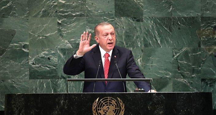 El presidente de Turquía, Recep Tayyip Erdogan, en la Asamblea General de la ONU