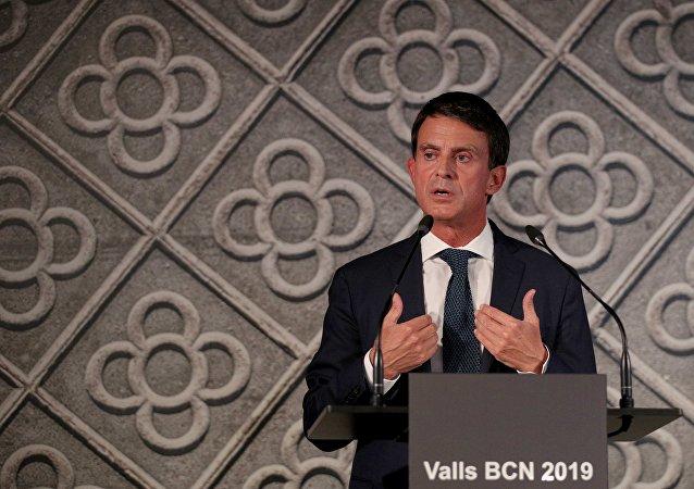 Manuel Valls, el ex primer ministro francés y el candidato a la alcaldía de Barcelona