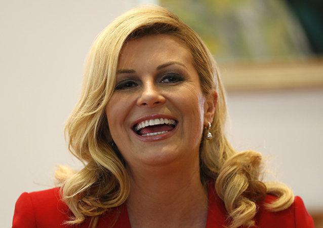 Kolinda Grabar-Kitarovic, presidenta de Croacia