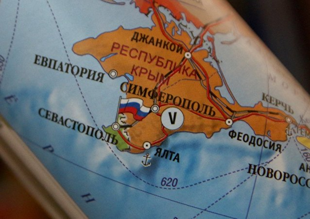 El mapa de Europa con la península rusa de Crimea