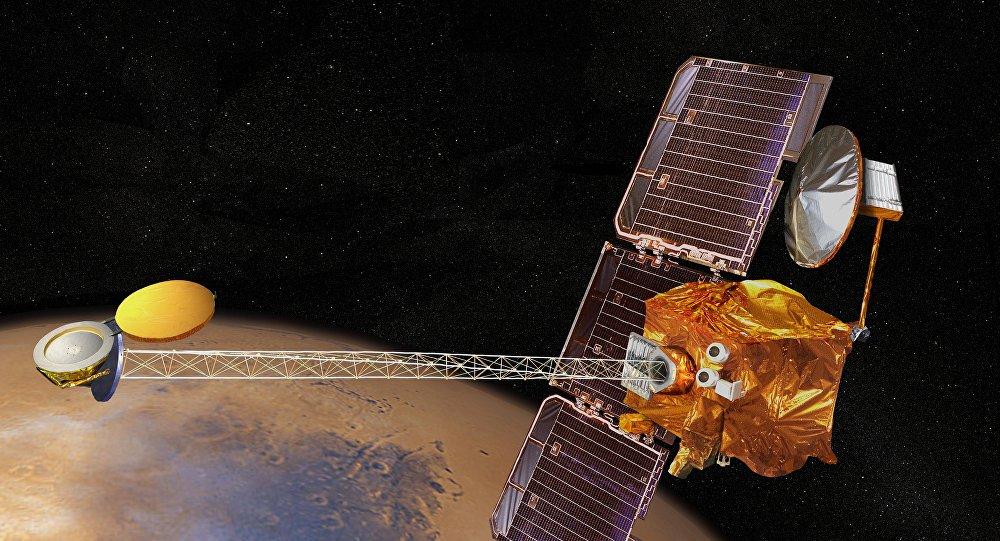 Concepto artístico de la nave espacial Mars Odyssey