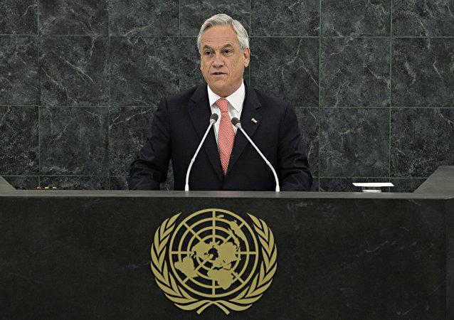 Sebastián Piñera, presidente de Chile, en la Asamblea General de la Organización de las Naciones Unidas (ONU)