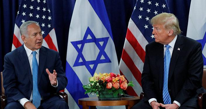 El primer ministro israelí, Benjamin Netanyahu, y el presidente estadounidense, Donald Trump