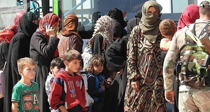 Refugiados sirios en Abu al Duhur
