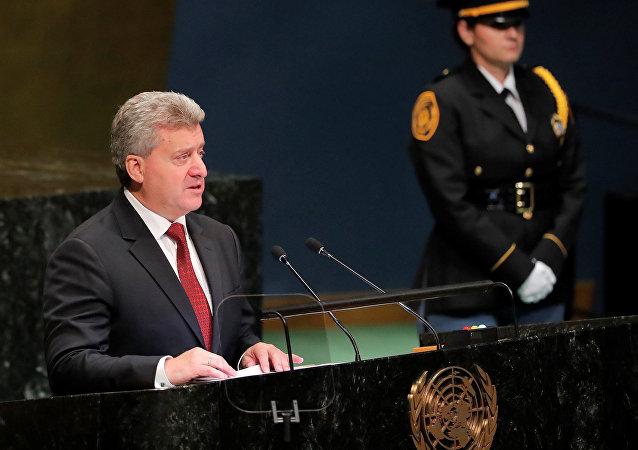 Gjorge Ivanov, presidente de Macedonia en la Asamblea General de la ONU