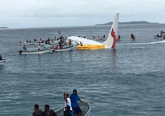 Un avión se estrella en Micronesia
