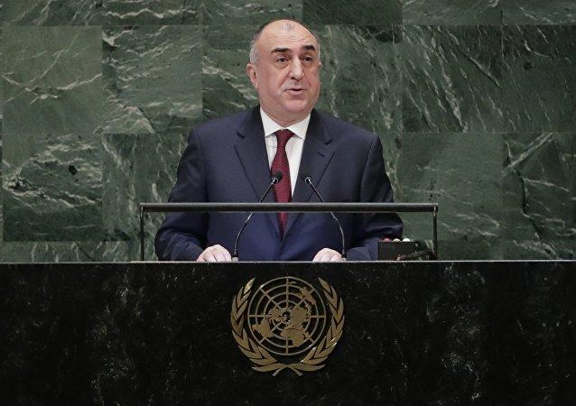 El ministro azerí de Exteriores, Elmar Mammadyarov
