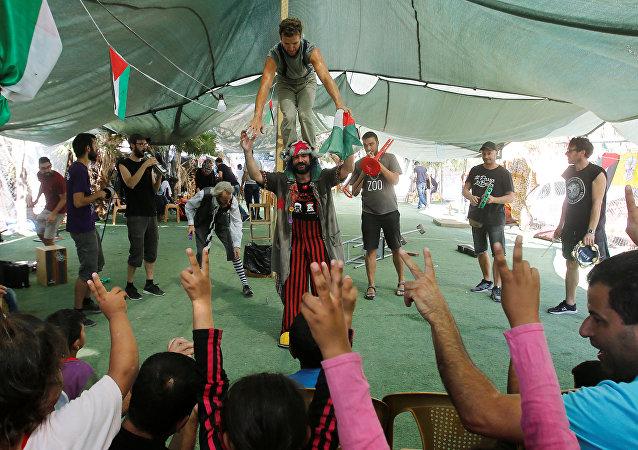 Festival de circo Festiclown en Palestina