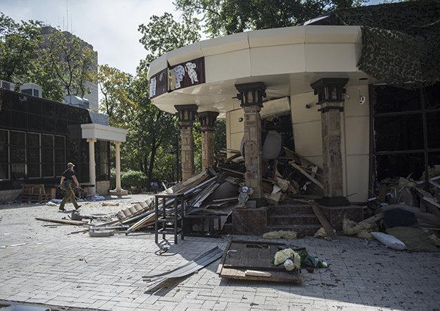 El café Separ tras una explosión