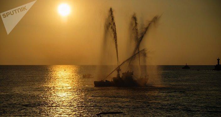 Un barco ruso Sebastopol