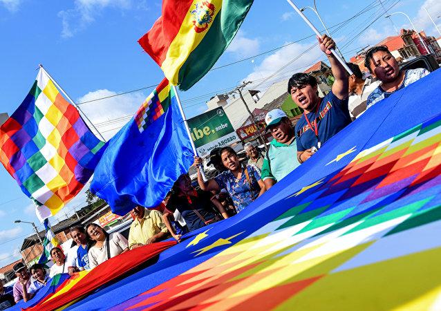 Activistas bolivianos