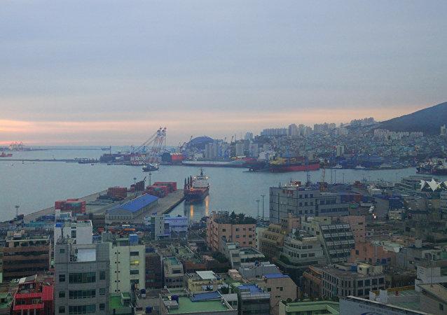 Puerto de Busan, Corea del Sur