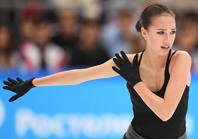 La patinadora Alina Zaguítova