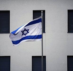 Bandera de Israel en el edificio de la Embajada israelí en Moscú (imagen referencial)