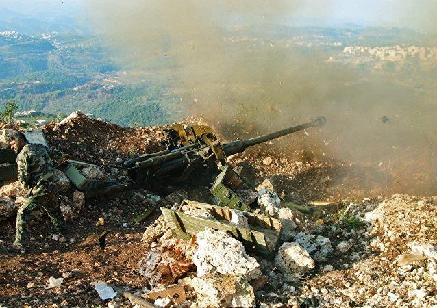 Un militar sirio en la provincia de Latakia