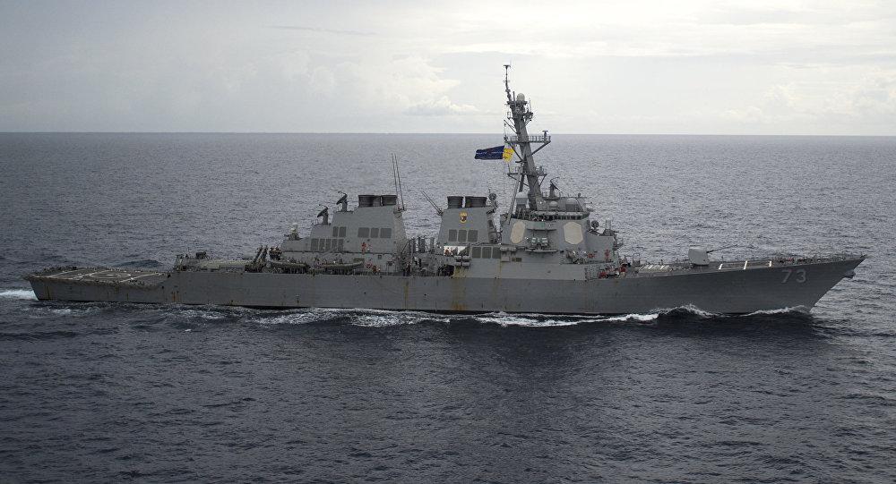 El USS Decatur en aguas chinas