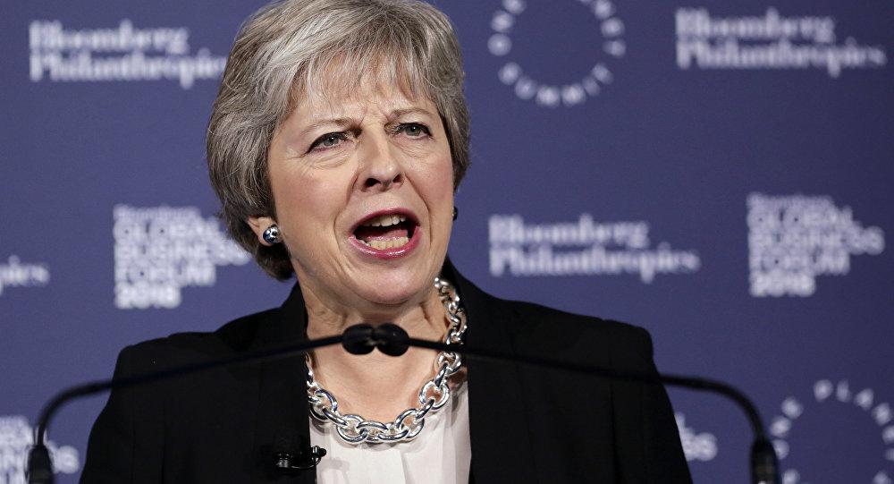 Theresa May, primer ministra británica (archivo)