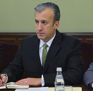 Tareck El Aissami, vicepresidente sectorial de Venezuela para el área económica