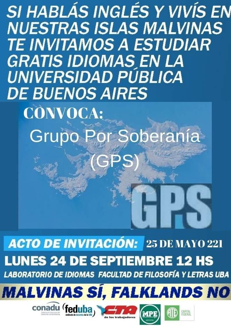 Convocatoria del Grupo por Soberanía en Argentina