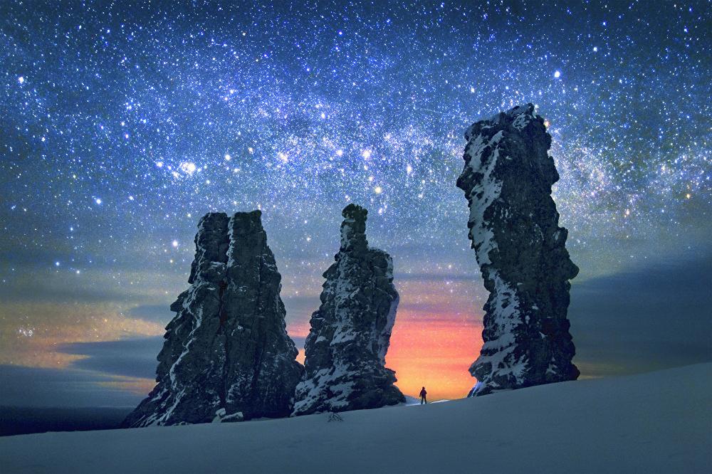 Las formaciones rocosas de Manpupuner, situadas en la república rusa de Komi, fueron fotografiadas por Serguéi Makurin.