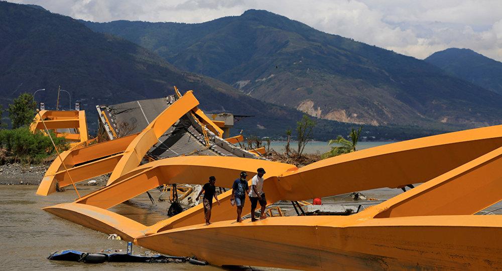 Consecuencias del sismo en Indonesia