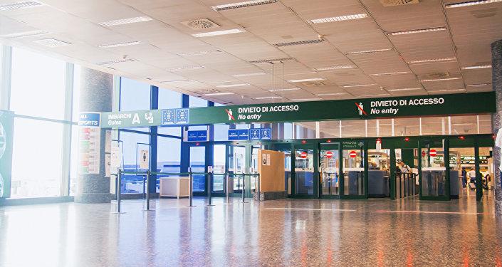 El aeropuerto Fiumicino en Italia