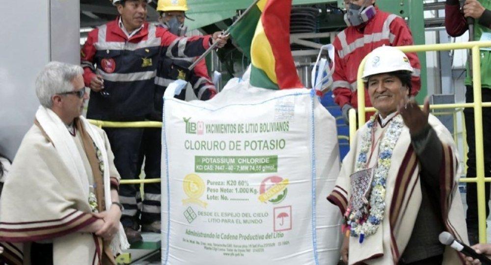 Bolivia lista para producir 350 mil toneladas de cloruro de potasio