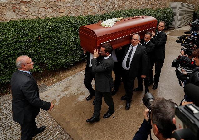 El funeral de la soprano Montserrat Caballé