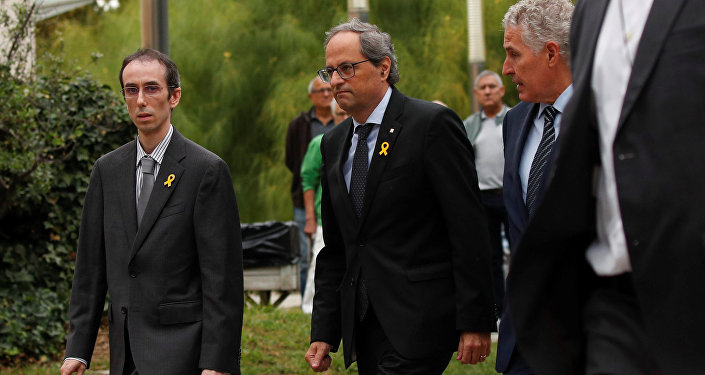 Quim Torra, presidente de la Generalitat de Cataluña, asiste el funeral de la soprano Montserrat Caballé