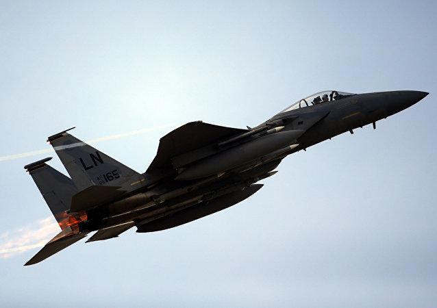 Un caza F-15C estadounidense (archivo)