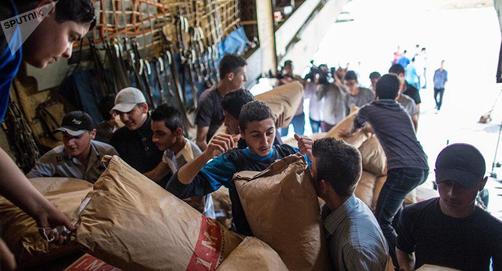 Ayuda humanitaria de Rusia a Siria (archivo)
