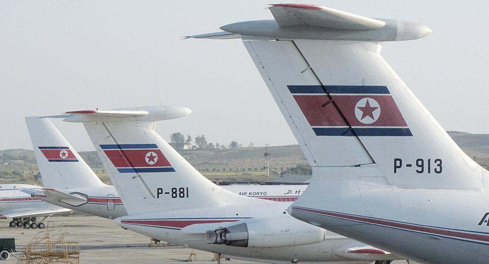 Aviones de la compañía aérea Air Koryo, foto archivo