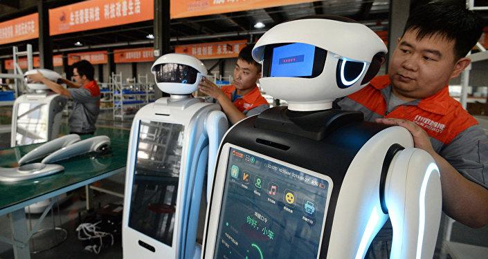 Una fábrica china de robots
