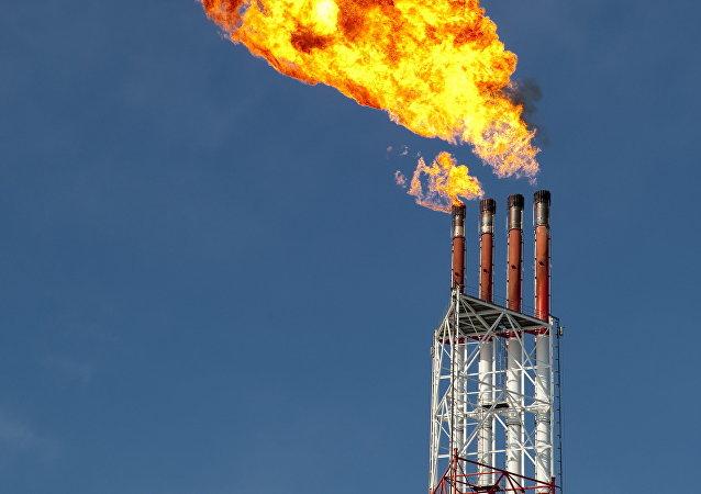 Una planta de licuefacción de gas (archivo)