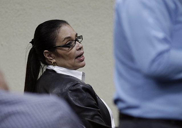 Roxana Baldetti, exvicepresidenta guatemalteca en el Tribunal de Guatemala