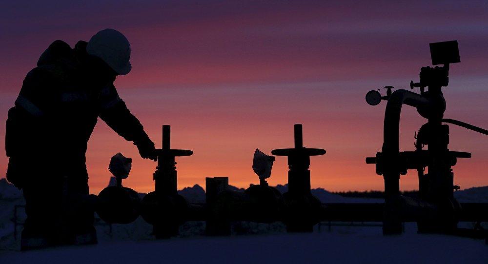 Extracción de petróleo en Ufá, Rusia