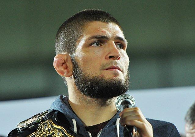 El luchador de artes marciales mixtas Khabib Nurmagomedov
