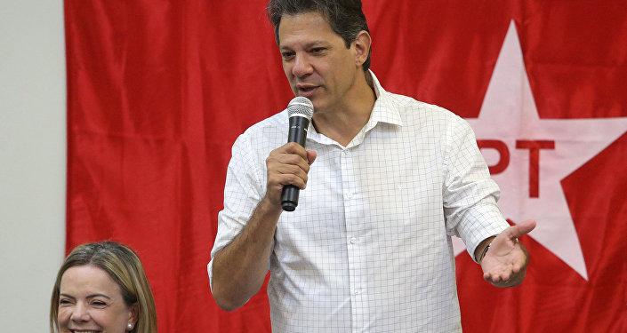 Fernando Haddad, candidato presidencial del Partido de los Trabajadores de Brasil